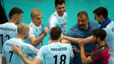 «Зенит» обыграл «Енисей» в матче 8-го тура первенства России по волейболу