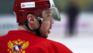 Сергей Мозякин — капитан хоккейной сборной России на Кубке Карьяла