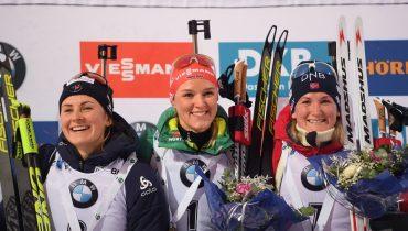 Биатлонистки из России остались без медалей в гонке преследования