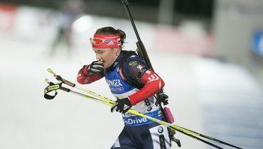 Российские биатлонистки остановились в шаге от медалей в эстафете