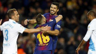 «Барселона» забила 4 гола в ворота «Депортиво» в 16-м туре Примеры