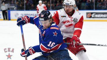 СКА выиграл пятый матч подряд в КХЛ