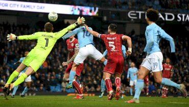 «Манчестер Сити» вырвал победу у «Бристоль Сити» благодаря голу Серхио Агуэро