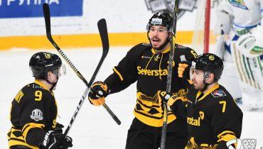 Дубль Антона Бурдасова не спас «Салават Юлаев» от поражения в матче с «Северсталью»