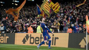 «Барселона» вырвала победу у «Алавеса» за счет голов Лионеля Месси и Луиса Суареса