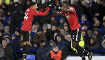 «Манчестер Юнайтед» прервал безвыигрышную серию в матче с «Эвертоном»