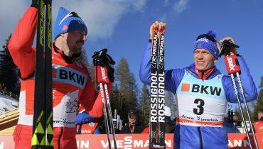 Сергей Устюгов и Александр Большунов попали на пьедестал по итогам пасьюта на «Тур де Ски»