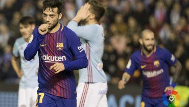 «Барселона» и «Сельта» сыграли вничью в первом матче 1/8 финала Кубка Испании