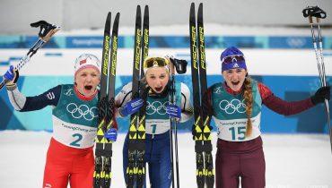 Российские лыжники выгрызли две бронзы в индивидуальном спринте