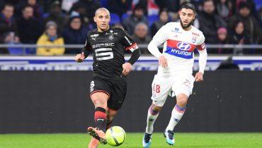 «Лион» дома проиграл «Ренну» в матче Лиги 1