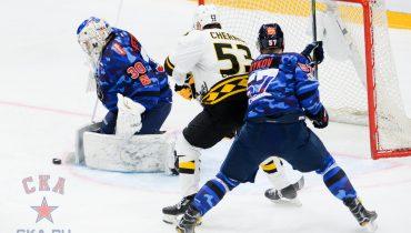 «Северсталь» пробилась в плей-офф, несмотря на поражение от СКА в серии буллитов