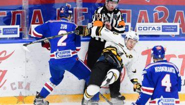 СКА вновь выиграл у «Северстали» в Санкт-Петербурге. Команды впаяли 11 шайб