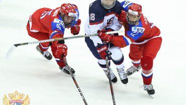 Американцы разгромили российских юниоров в 1/4 финала ЮЧМ