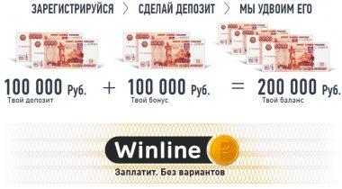 БК Winline: бонус на первый депозит до 100 000 ₽