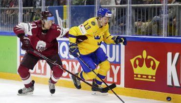 Шведы помучались со сборной Латвией