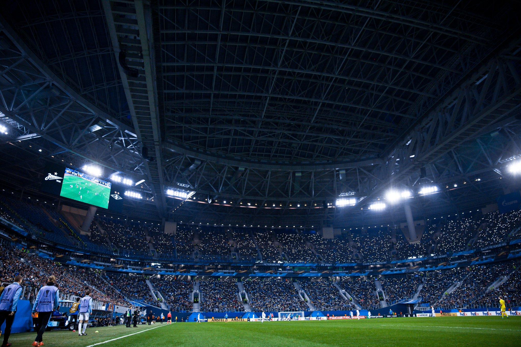 зенит арена фото с матча дом