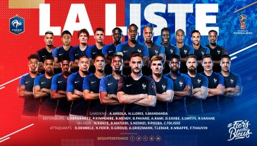 Марсьяль, Коман и Ляказетт не попали в заявку французской команды на ЧМ-2018