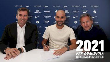 «Манчестер Сити» переподписал Гвардиолу до 2021 года