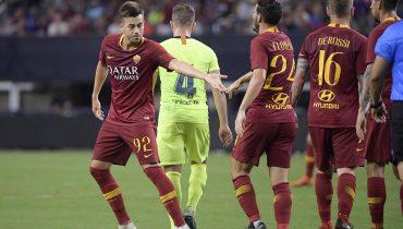 «Рома» вновь наколотила кучу голов «Барселоне». На этот раз — в товарищеском матче
