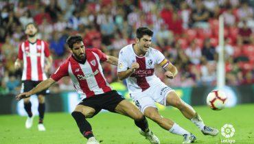 «Атлетик» из Бильбао упустил преимущество в два мяча в игре с «Уэской»