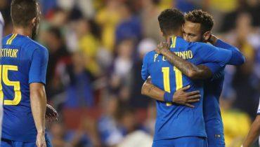 Бразильцы разделались со сборной Сальвадора. У Неймара — гол и три ассиста, Ришарлисон оформил дубль