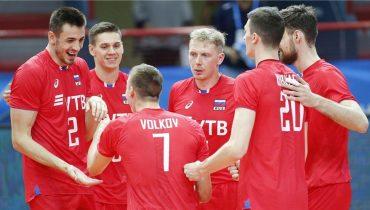 Российские волейболисты в трёх сетах раскатали камерунцев