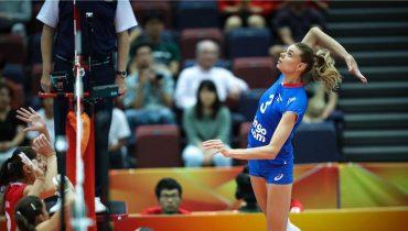 Российские волейболистки обыграли соперниц из Болгарии