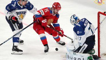 Российские хоккеисты сломили сопротивление финнов в Хельсинки