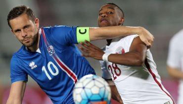 Защитник сборной Исландии напару с катарским вратарём соорудили чудо гол