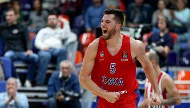 ЦСКА возглавил турнирную таблицу Евролиги после победы над «Олимпиакосом»