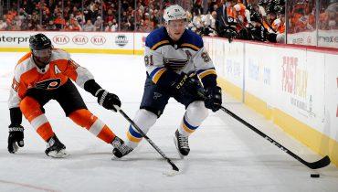 «Сент-Луис» продлил серию поражений «Филадельфии» до семи матчей, а Тарасенко распечатал всех в НХЛ