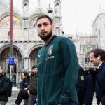 Сборная Италии после матча с Боснией побывала в затопленной Венеции